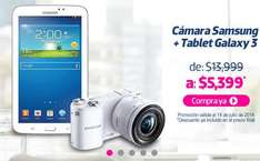 Liverpool: cámara Samsung NX-2000 + Galaxy Tab 3 $5,399 y 6 meses sin intereses