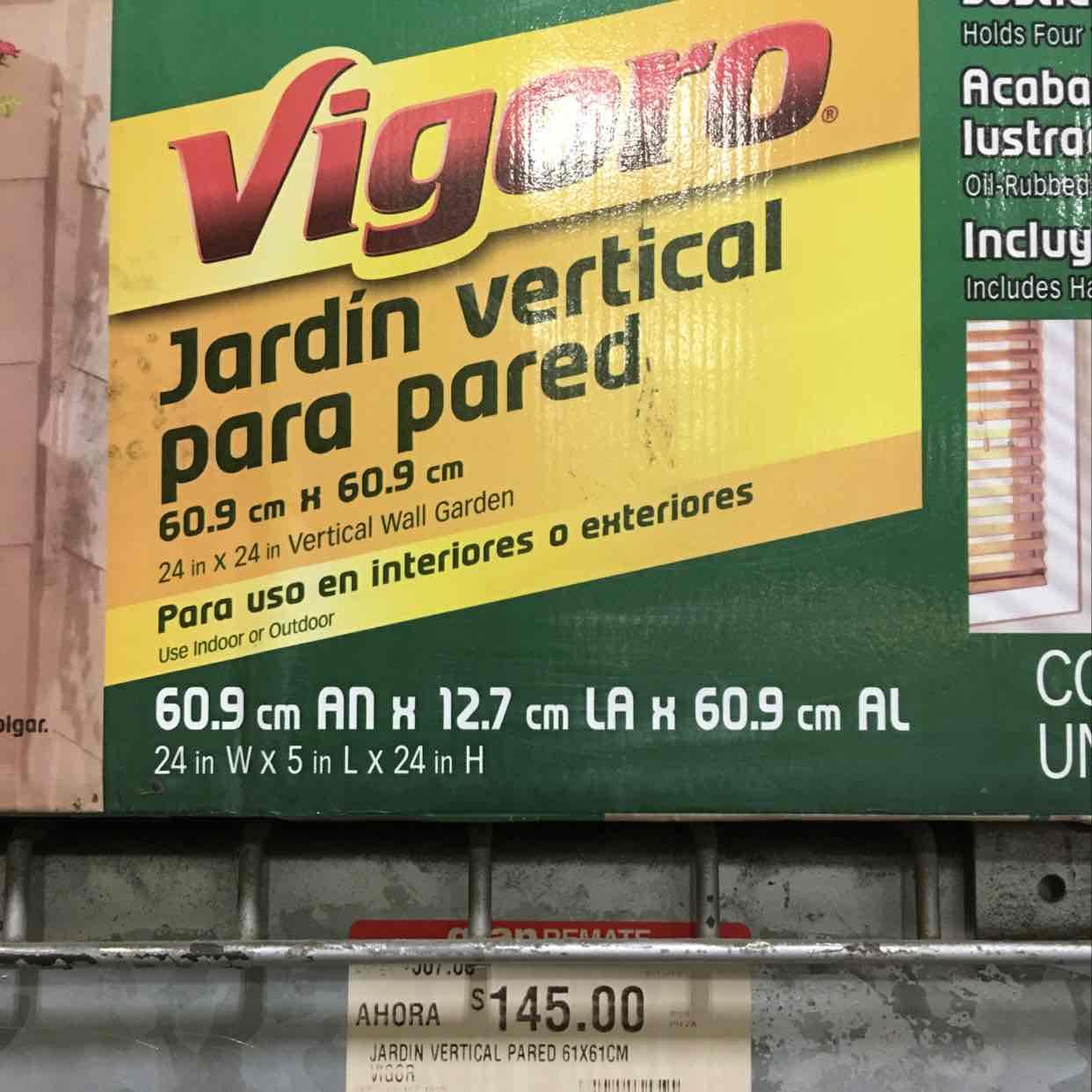 Home Depot: Jardin Vertical Vigoro a $145