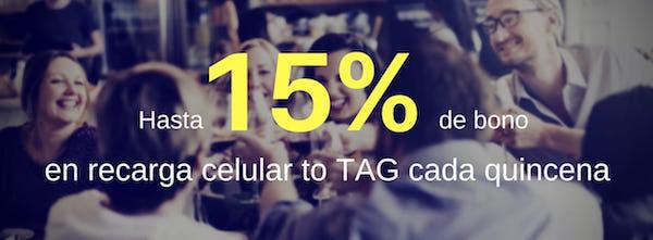 UnDosTres: hasta 15% de bonificación recargando los días de quincena, usuarios existentes y nuevos