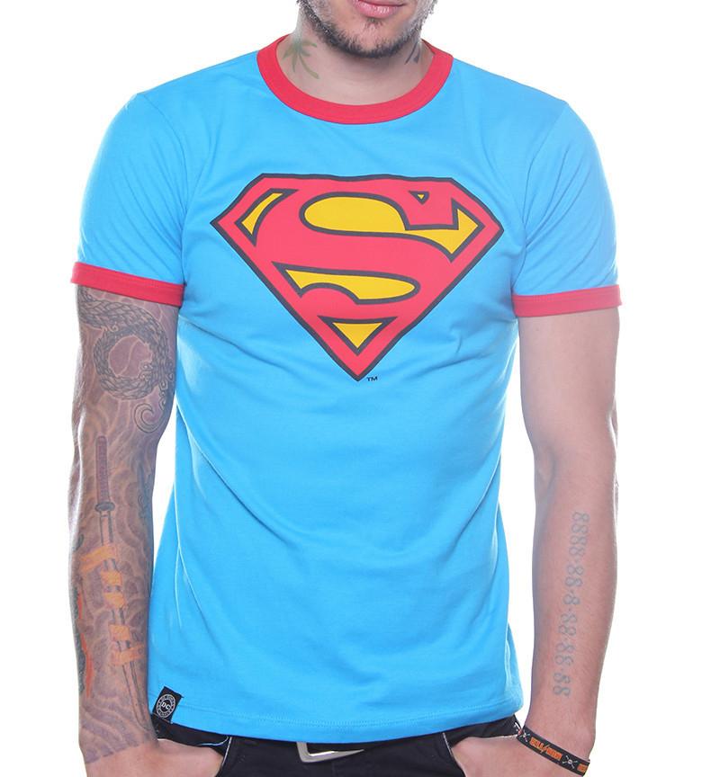 King Moster: PLAYERA RINGER LOGO SUPERMAN