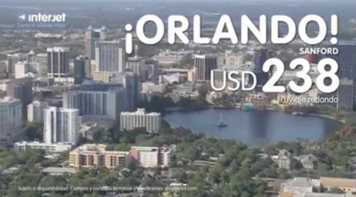 Interjet: vuelo México a Orlando redondo desde $195 dólares