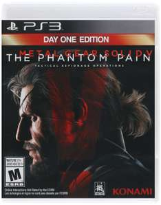 Amazon USA: Metal Gear Solid V: The Phantom Pain - PlayStation 3 Day One Edition (No envío a México)