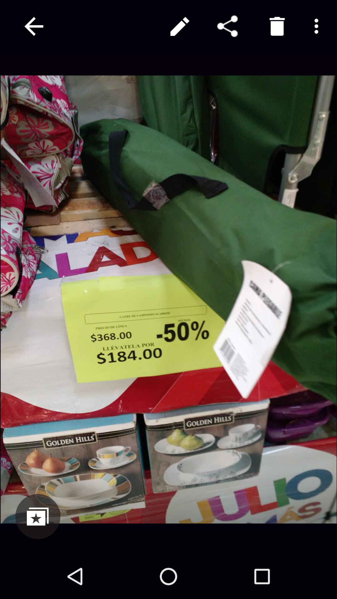 Comercial Mexicana: cama plegable para campamento y bomba de aire