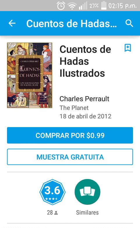 Google Play: cuentos de hadas ilustrados a $0.99