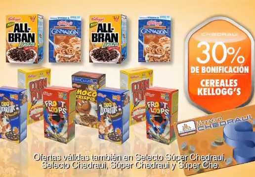 Chedraui: 30% de bonificación en cereales Kellogg's