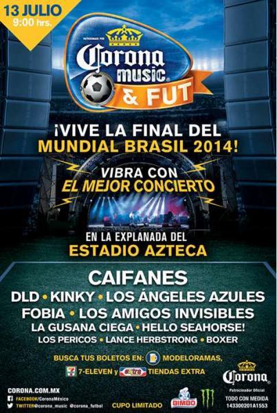 7 Eleven: boleto gratis para Corona Music & Fut DF comprando 24 cervezas (Caifanes, Fobia y más)