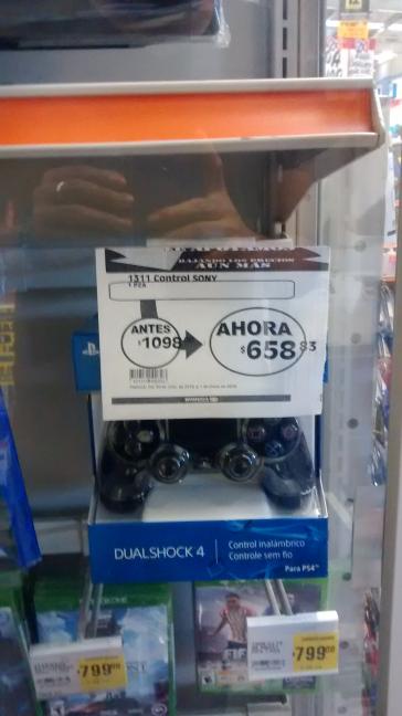 Comercial Mexicana: control Dual Shock 4 para PS4 a $658