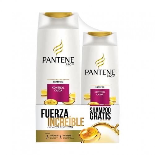 Chedraui en línea Toluca: Shampoo Pantene Control Caida Anticaida Duo Pack Varios 1 Pz 400 + 200 Ml a $5