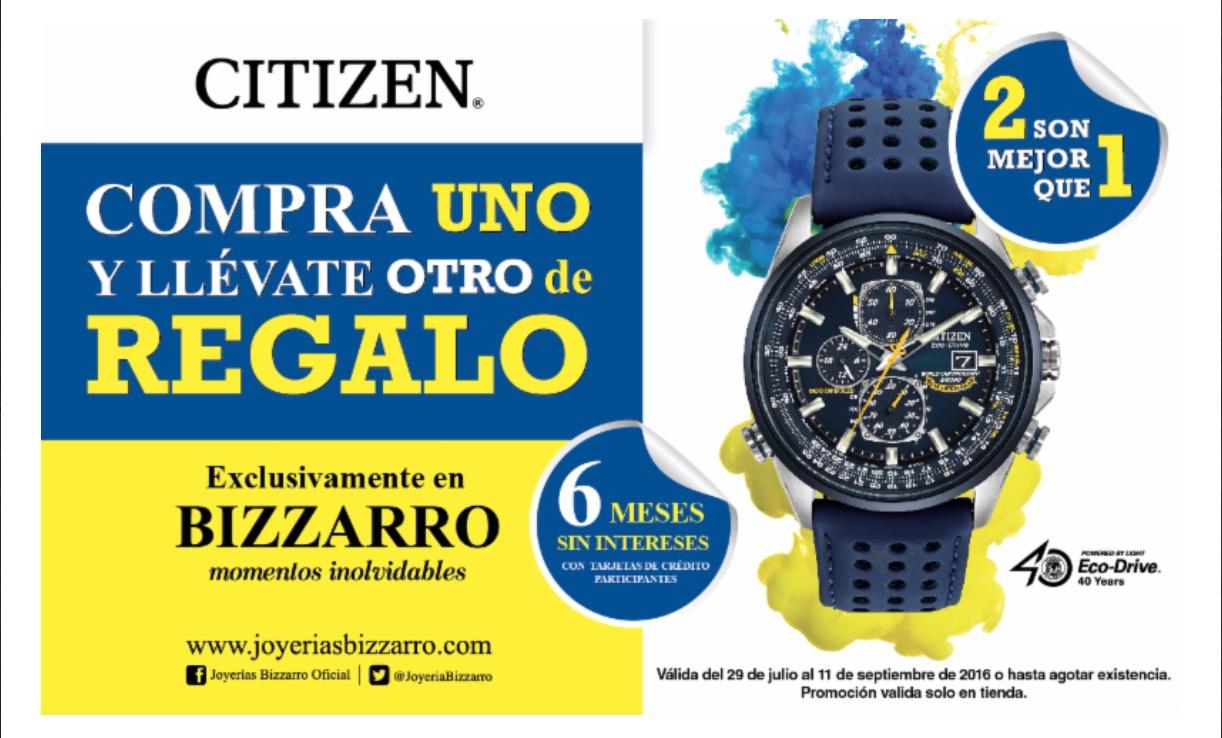 Joyerias bizarro: 2x1 en relojes Citizen