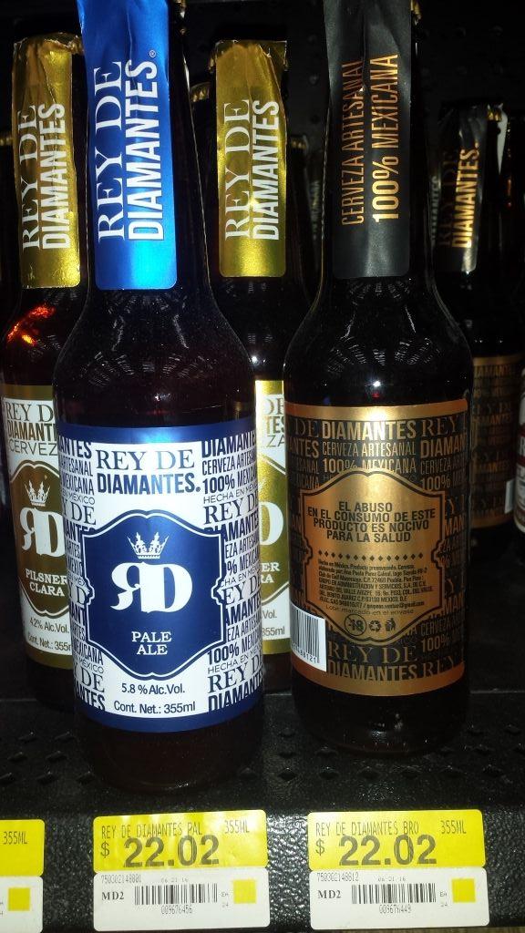 Walmart Cuitlahuac: Cerveza Artesanal Rey de Diamantes (Antes $45)