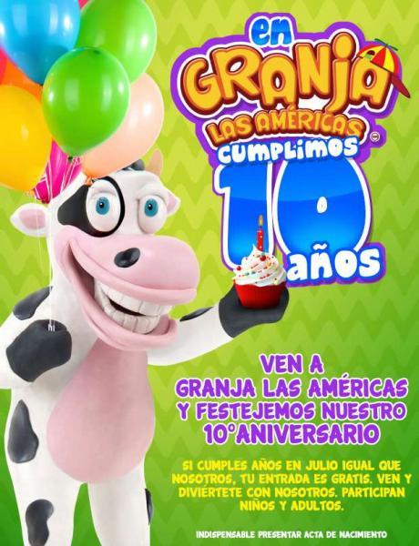 Granja Las Américas: entrada gratis si naciste en julio
