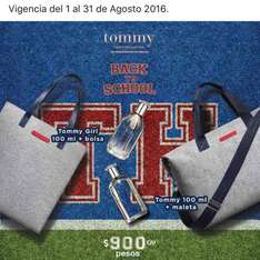 Sears: fragancia Tommy de 100ml + Maleta o Bolso Tommy a $900
