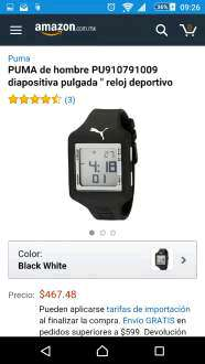 Amazon MX: Reloj Puma PU910791009 a $478