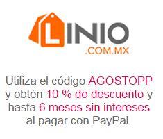 Linio: Cupón 10% de descuento pagando con PayPal