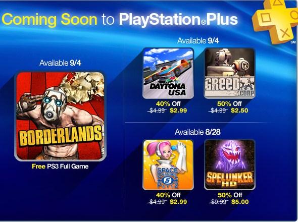 PlayStation Store: Borderlands gratis para suscriptores Plus la siguiente semana y más