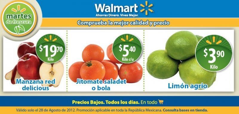 Martes de frescura Walmart agosto 28: limón $3.90, jitomate $5.40 y más