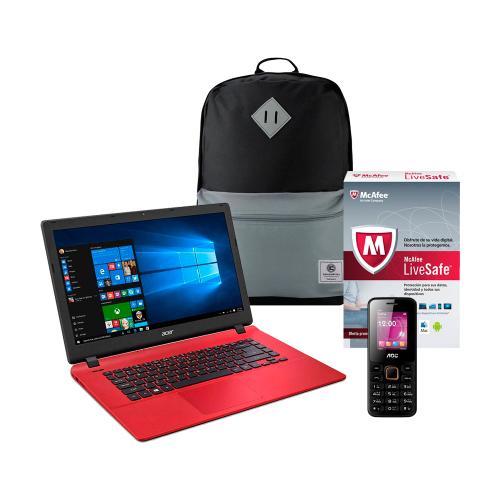 Walmart en línea: Laptop Acer Aspire Quad Core 4 Ram + Mochila + Antivirus McAfee+ Movil a $6,599
