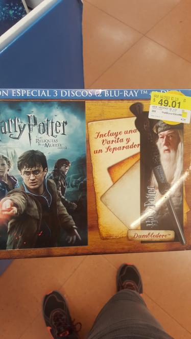 Walmart Tepeyac: Harry Potter Las Reliquias de la Muerte Parte 2 a $49.01