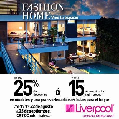 Liverpool: hasta 25% de descuento o 15 MSI en muebles y artículos para el hogar