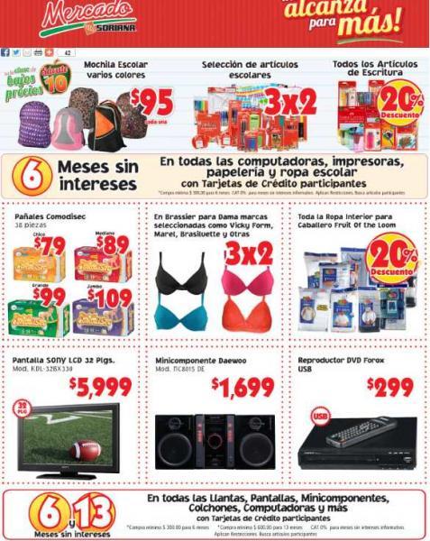 Soriana Hiper, Super y Mercado: ofertas en útiles escolares, ropa interior, whisky y más