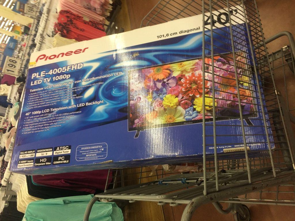 Walmart: TV Pioneer 40 pulgadas FHD a $3,249.01