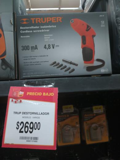 Walmart Santa Catarina: desarmador inalámbrico Truper a $269