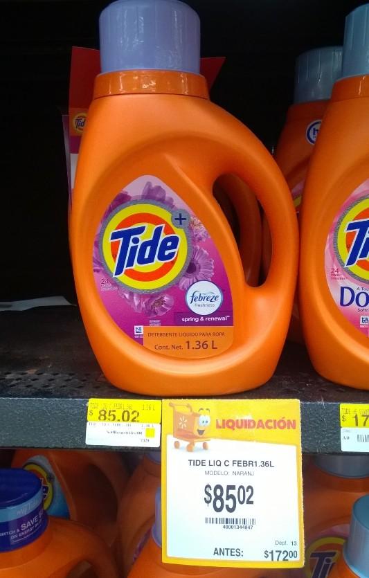 Walmart Mérida: Detergente Tide a mitad de precio y mas