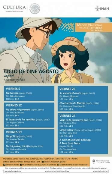CDMX: Ciclo gratuito de películas japonesas (algunas animadas)