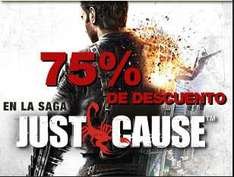 75% de descuento en Just Cause 1 y 2 y 33% en Ghost Recon Future Soldier (PC)