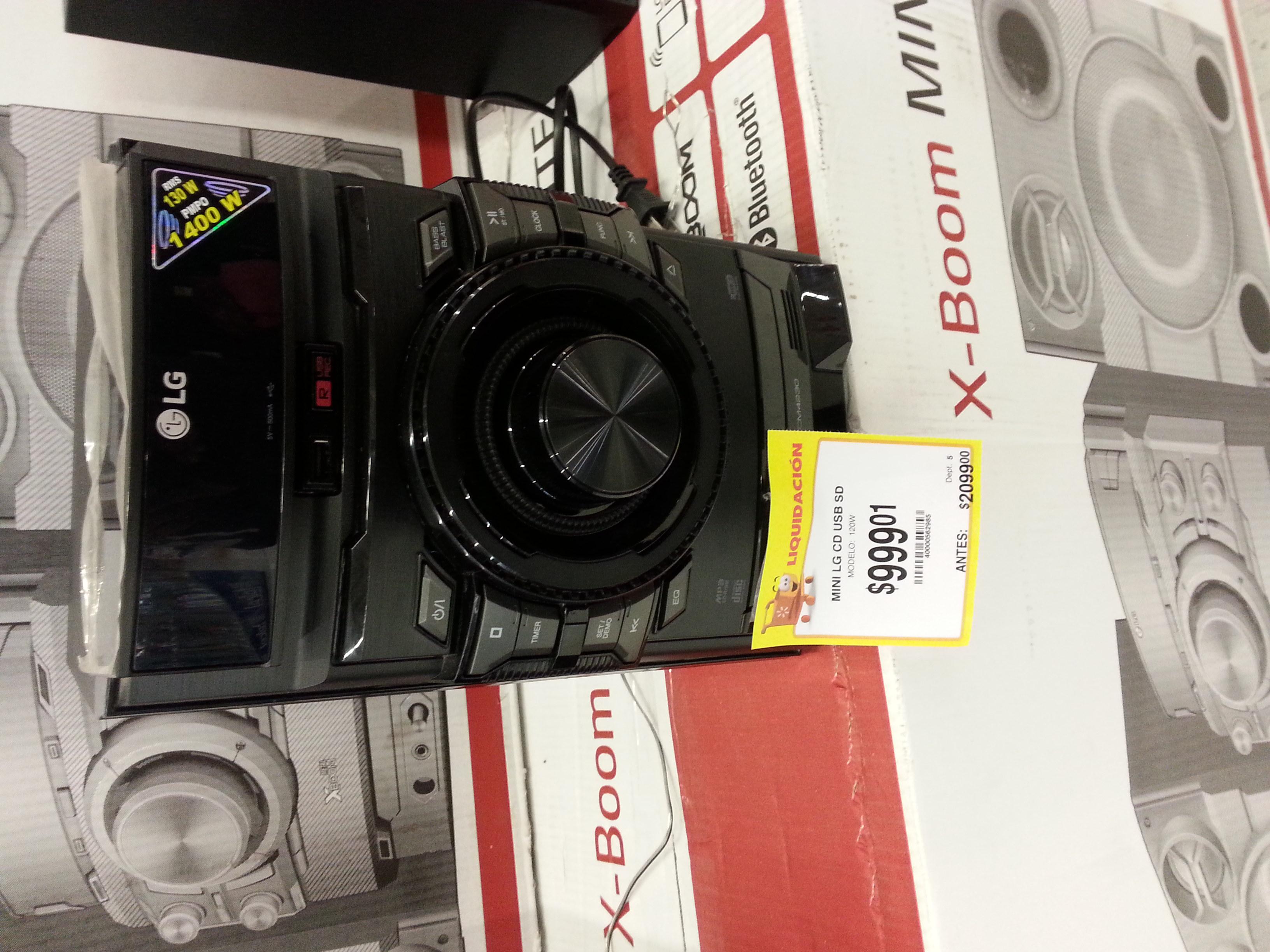 Walmart 3rios Culiacan Sinaloa: Minicomponente  Lg a $999.01