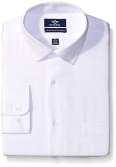 Amazon: Camisa Dockers Men's White Solid Classic Shirt - Spread Collar