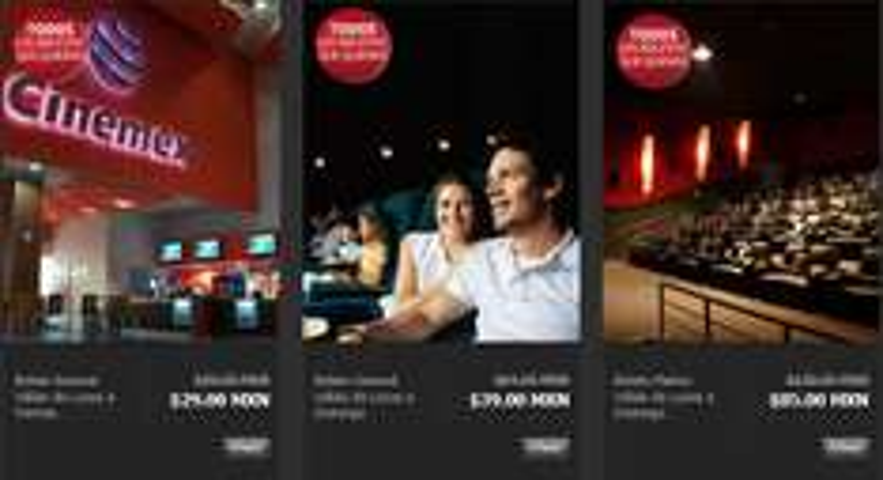 Privalia: ofertas en boletos para Cinemex sala regular, sala Platino y combos