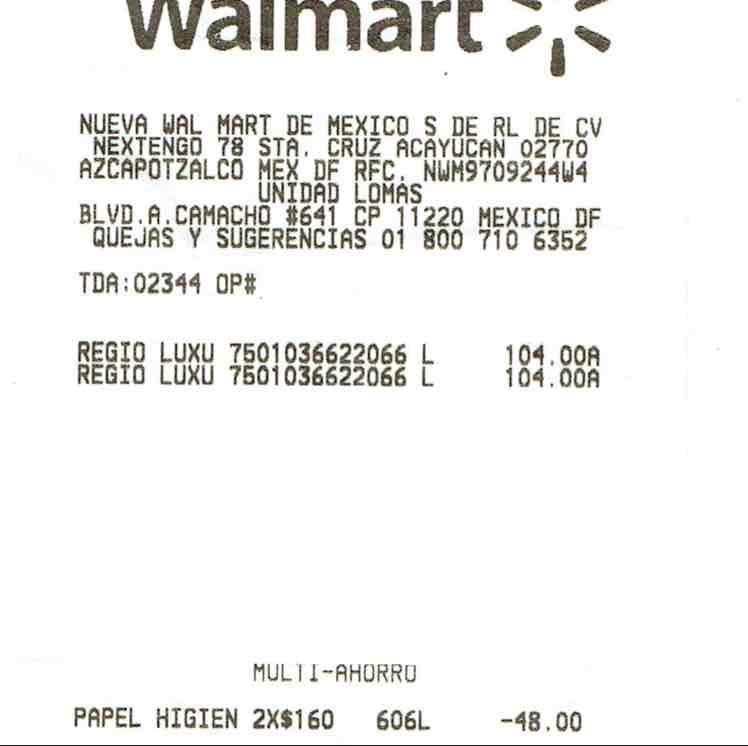 Walmart: Regio Luxury con 18 rollos 2 x $160