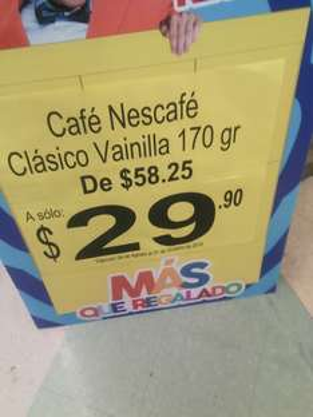 Soriana Bernardo Q. Nescafé Vainilla 170 g $29.90