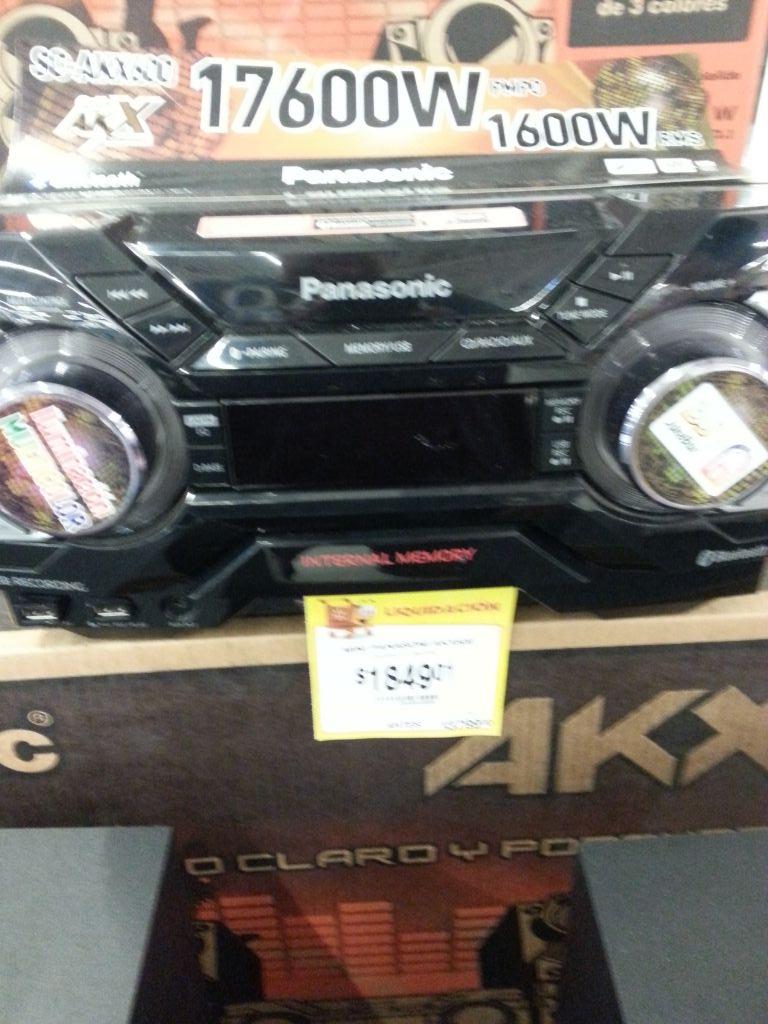 Walmart 3 Ríos Culiacán Sinaloa: Minicomponente Panasonic AKX600 $1849.01