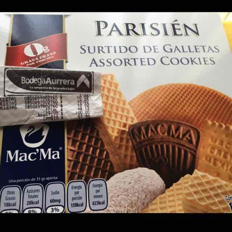 Bodega Aurrerá Joyas Coacalco: Galletas Mac'ma a $10.02