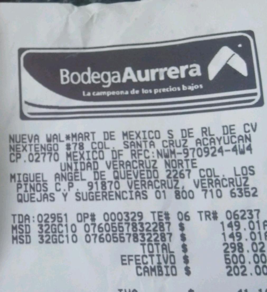 Bodega Aurrerá: MicroSD Transcend 32Gb Clase 10 a $149.01