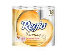 Amazon Mx: Regio Luxury Almendras con 18 Rollos de 215 hojas triples a $76