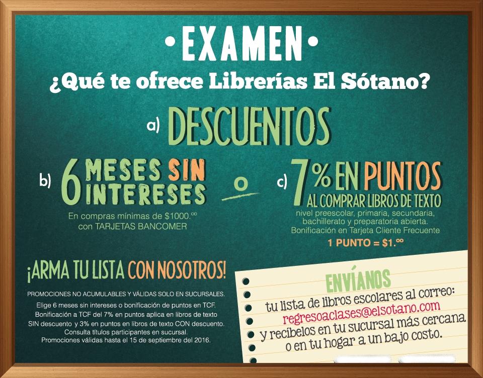 Librería el Sótano: 6 Meses Sin Intereses pagando con tarjetas Bancomer