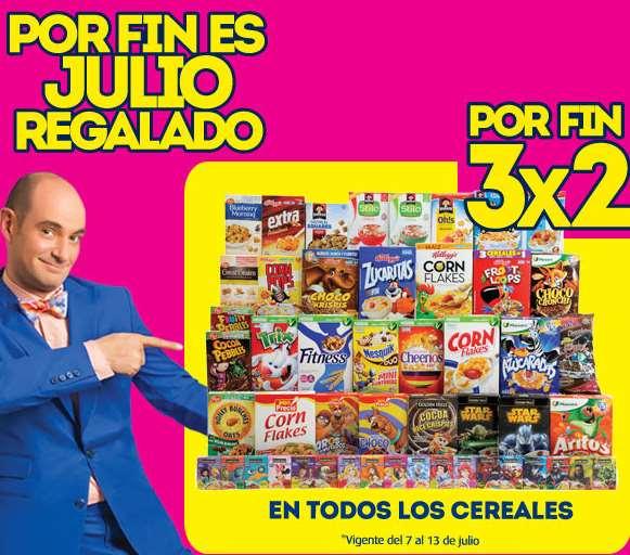 Ofertas de Julio Regalado en Comercial Mexicana: 3x2 en cereales