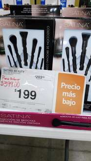 Sam's Club Istmo: brochas satina a $199