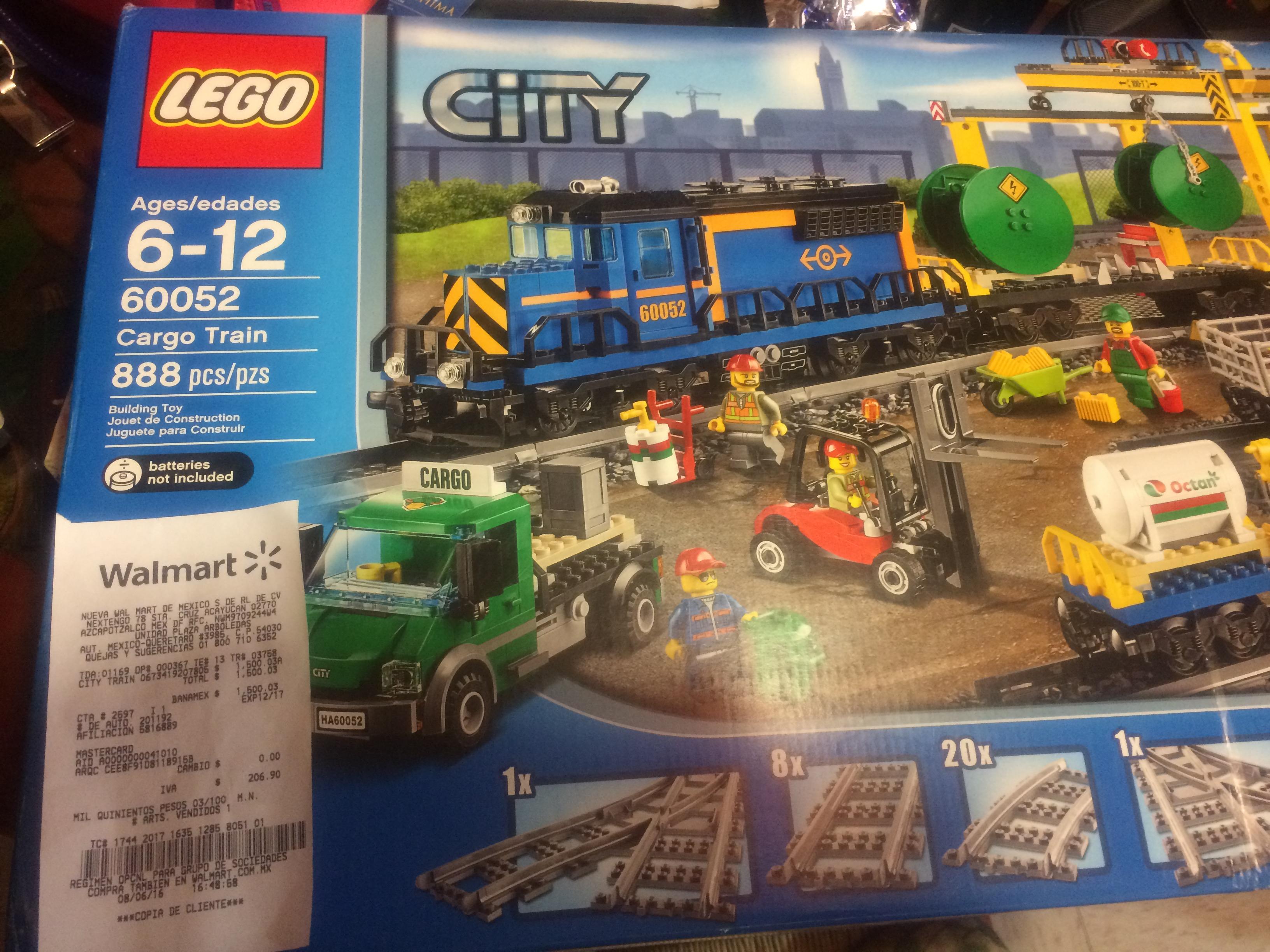 "Walmart Arboledas: Lego City ""Cargo Train"" a $1,500.03"