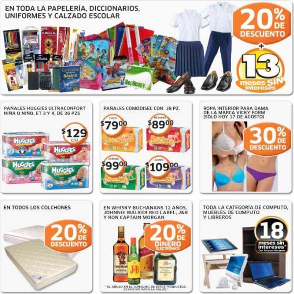 Soriana: ofertas en papelería, uniformes escolares, colchones, whiskys y más