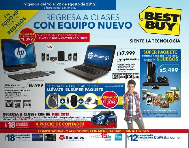 Folleto Best Buy agosto 16: gratis cafetera Nescafé DG o cámara Olympus con compra, 20% en teléfonos Siemens y más