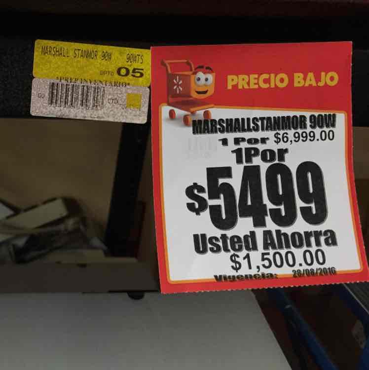 Walmart Av. Universidad, CDMX: Bocina Marshall Stanmore a $5,499