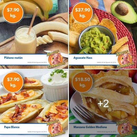 Chedraui: MartiMiércoles de FrutiVerduras 09 y 10 de Agosto: Zanahoria $5.90, Plátano y Papa $7.90, Manzana $18.50 y Aguacate $37.90 kg.