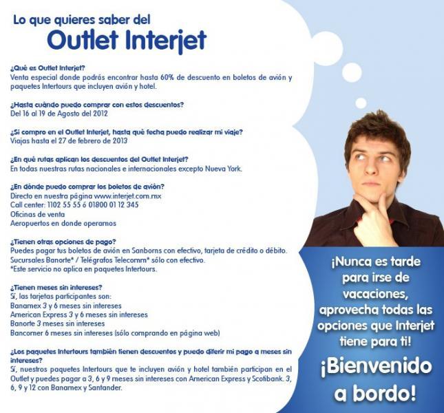 Outlet Interjet del 16 al 19 de agosto (actualizado)