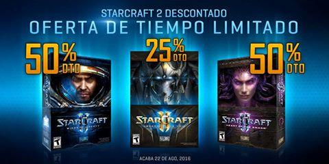 Descuentos en trilogia starcraft y campañas