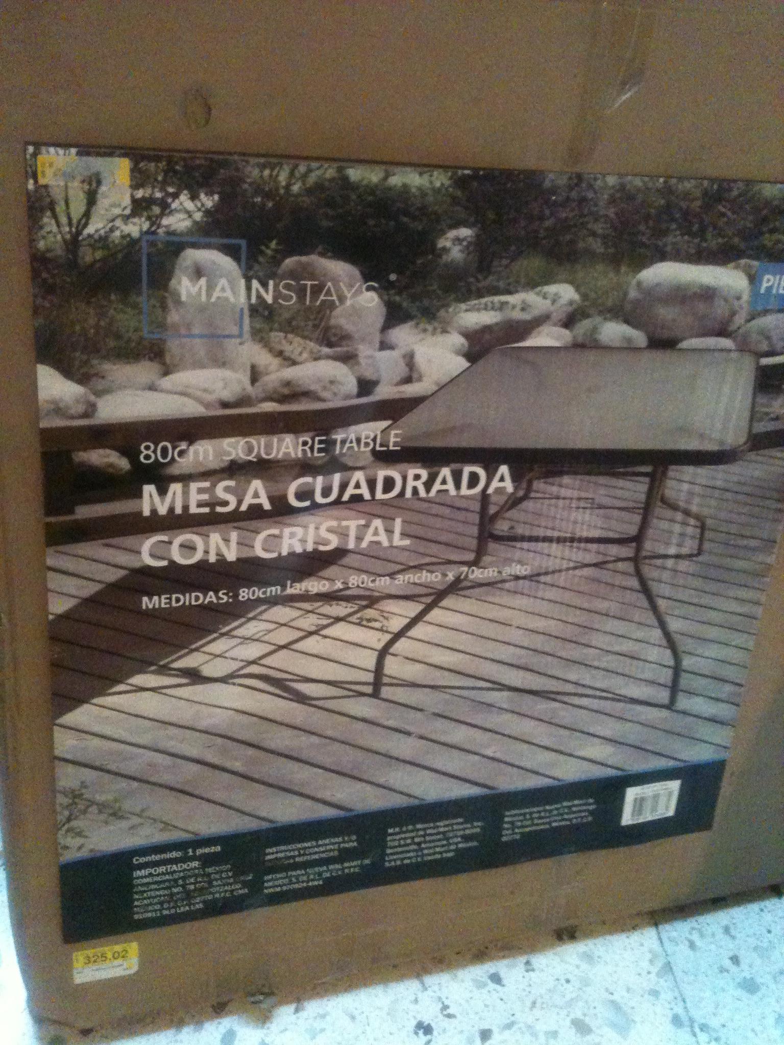 Bodega Aurrerá Central de Abastos Ecatepec: mesa cuadrada de cristal a $90.01