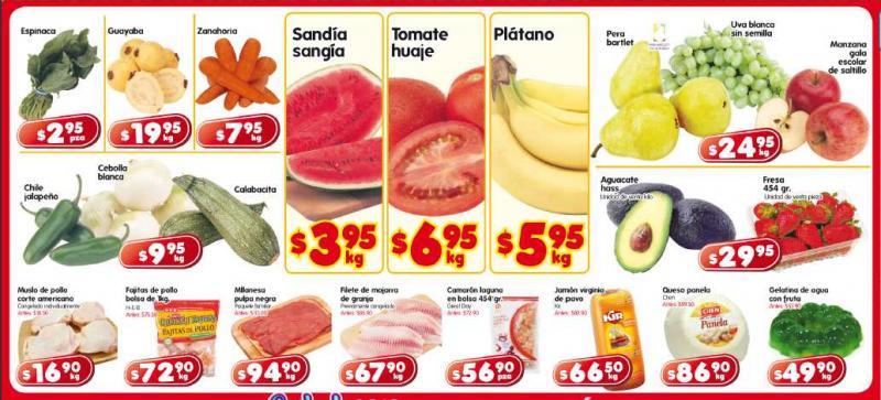 Frutas y verduras HEB: sandía $3.95, tomate $6.95 y más